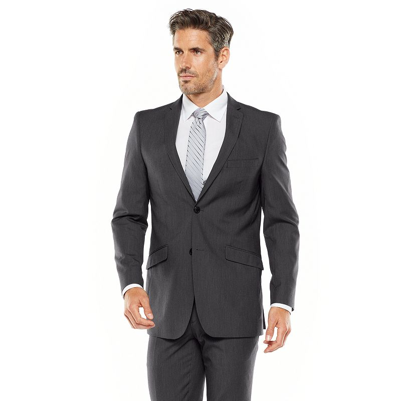 Men's Adolfo Slim-Fit Gray Suit Jacket