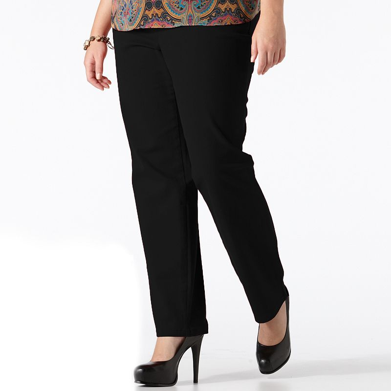 Plus Size Gloria Vanderbilt Amanda Classic Tapered Jeans, Women's, Size: 24W SHORT, Black