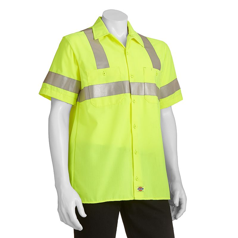 Men's Dickies High Visibility Button-Down Work Shirt