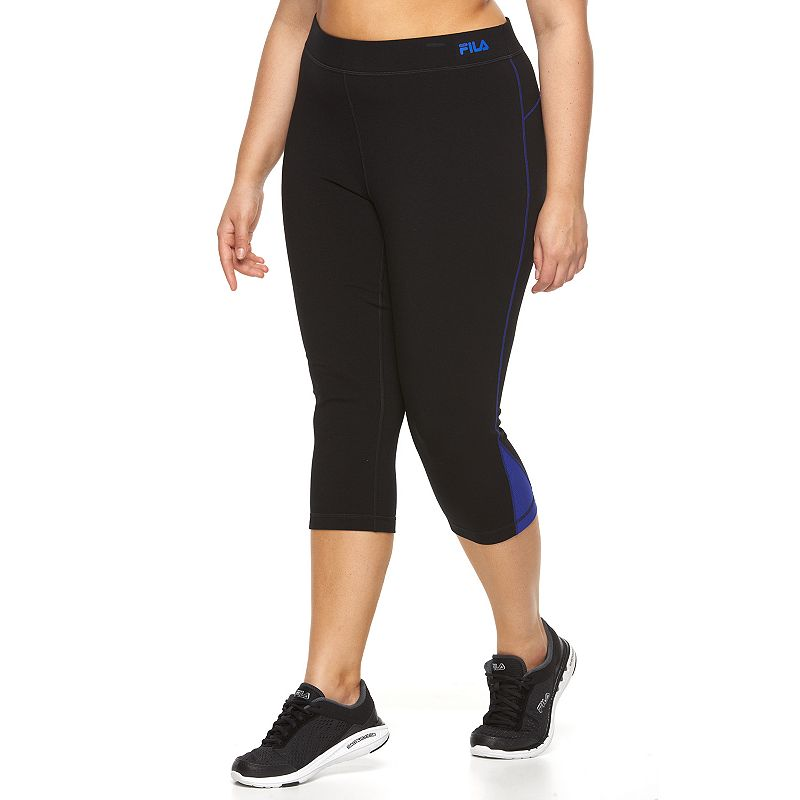 Plus Size FILA SPORT® Colorblock Active Capri Yoga Leggings