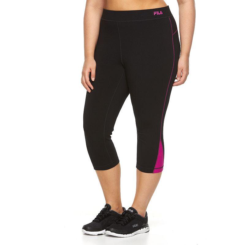 Plus Size FILA SPORT® Colorblock Active Capri Yoga Leggings