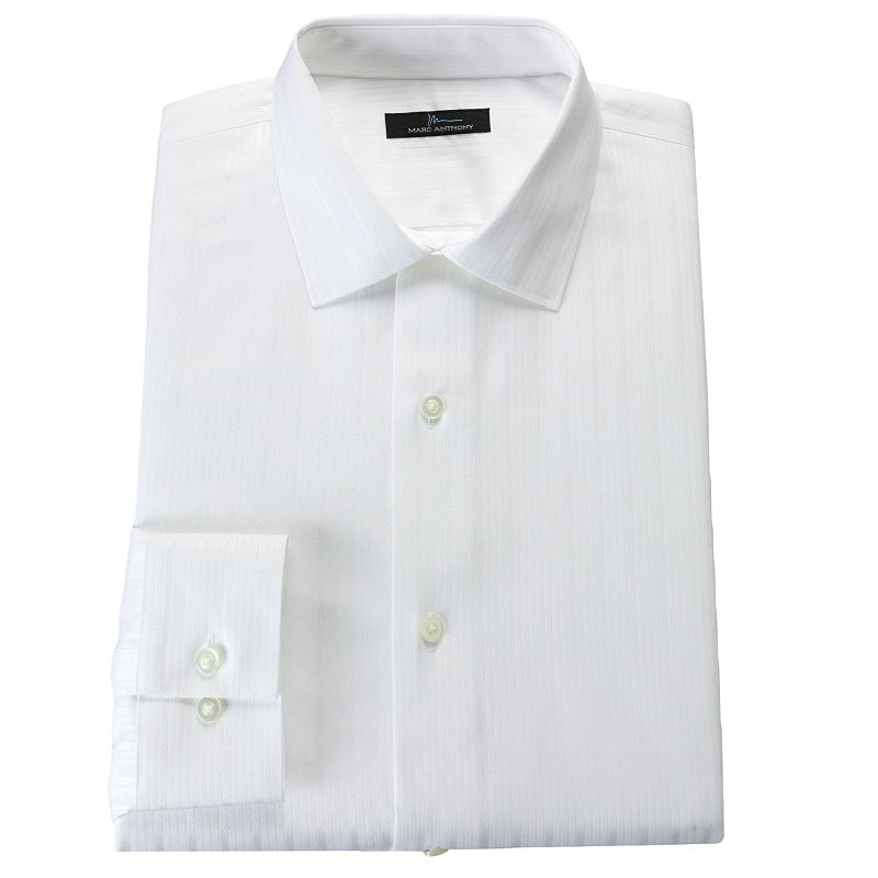 Men's Marc Anthony Slim-Fit Tonal-Striped Easy-Care Spread-Collar Dress Shirt