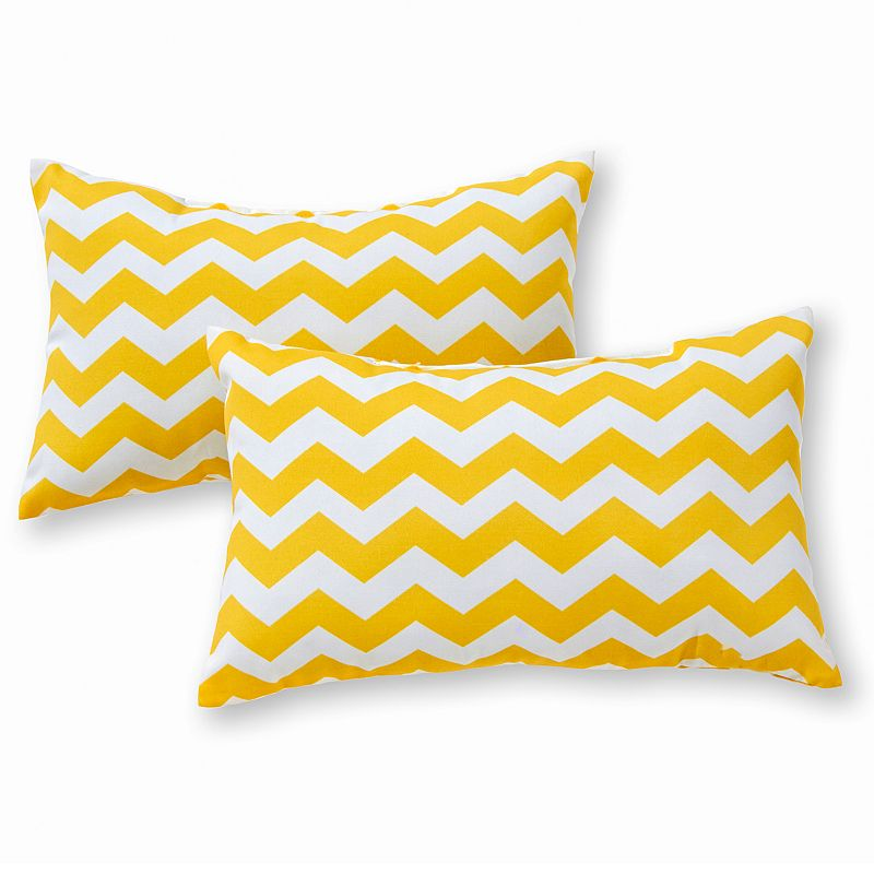 Kohls Yellow Throw Pillow : Greendale Home Fashions 2-pk. Oblong Outdoor Decorative Pillows DealTrend
