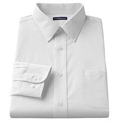 Big & Tall Croft & Barrow Solid Broadcloth Point-Collar Dress Shirt