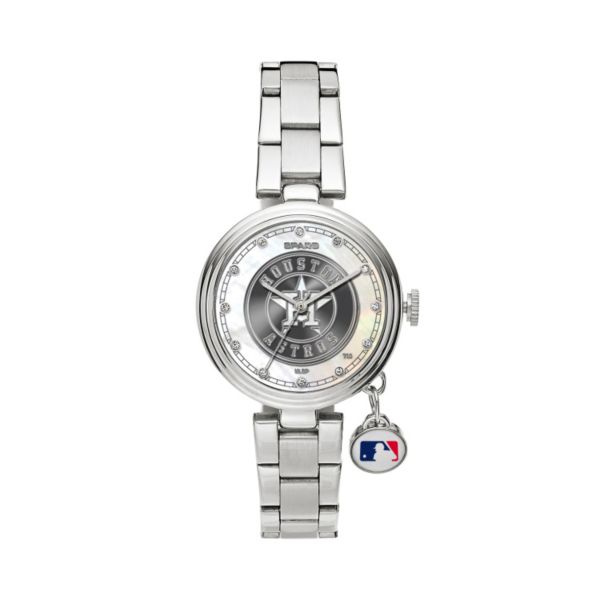Sparo Charm Watch - Women's Houston Astros Stainless Steel