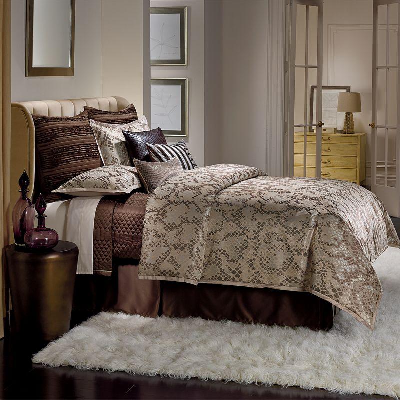 Jennifer Lopez bedding collection Desert Luxe 4-pc. Comforter Set - Cal. King, Beige/Khaki
