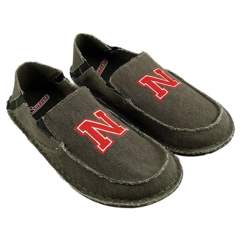 Men's Nebraska Cornhuskers Cazulle Canvas Loafers