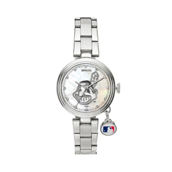 Sparo Charm Watch - Women's Cleveland Indians Stainless Steel
