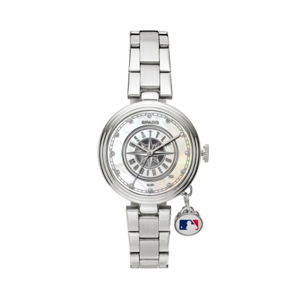 Sparo Charm Watch - Women's Seattle Mariners Stainless Steel