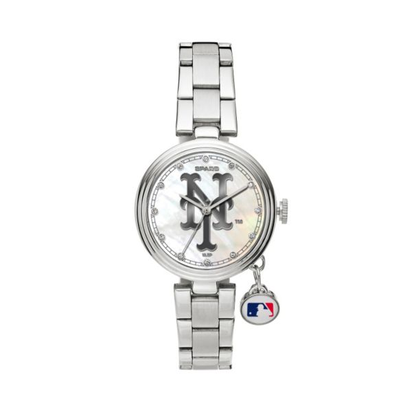 Sparo Charm Watch - Women's New York Mets Stainless Steel
