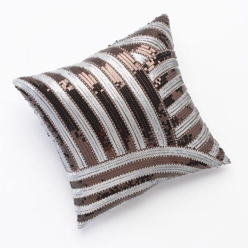 Jennifer Lopez bedding collection Desert Luxe Sequin Decorative Pillow