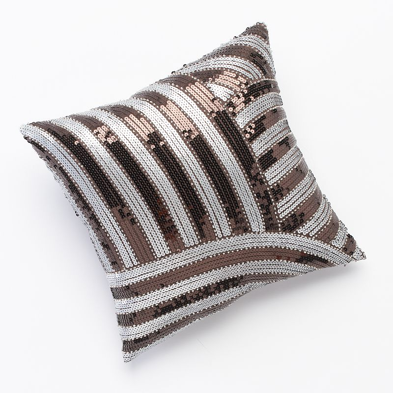 Jennifer Lopez bedding collection Desert Luxe Sequin Decorative Pillow