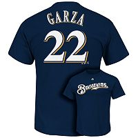 Men's Majestic Milwaukee Brewers Matt Garza Tee