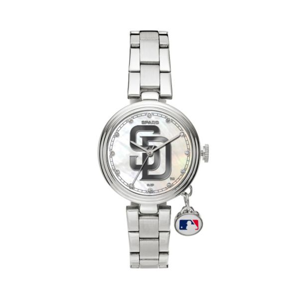 Sparo Charm Watch - Women's San Diego Padres Stainless Steel
