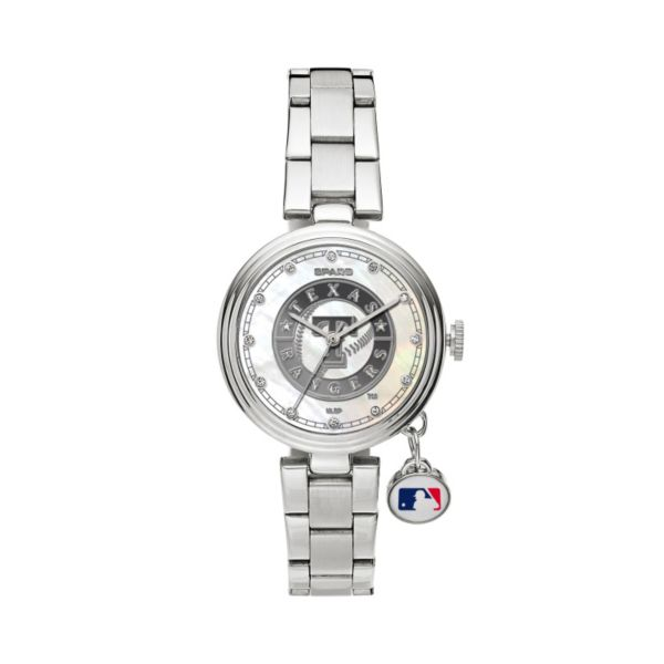 Sparo Charm Watch - Women's Texas Rangers Stainless Steel