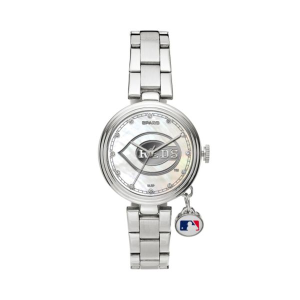 Sparo Charm Watch - Women's Cincinnati Reds Stainless Steel