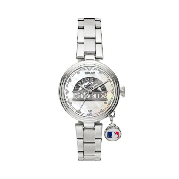 Sparo Charm Watch - Women's Colorado Rockies Stainless Steel