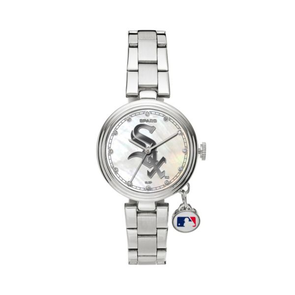 Sparo Charm Watch - Women's Chicago White Sox Stainless Steel