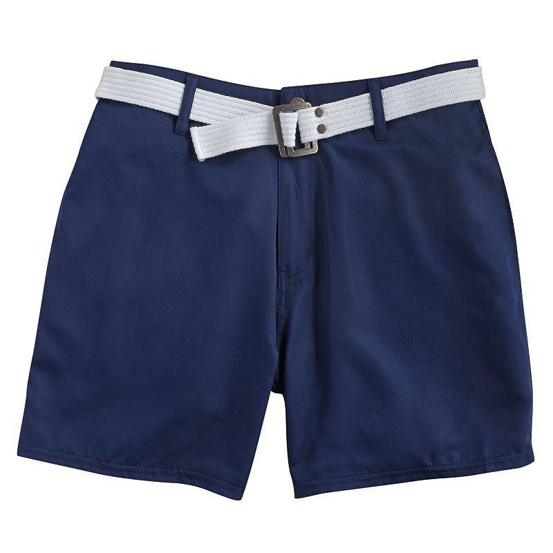 Men's Beach Rays Solid Belted Swim Trunks