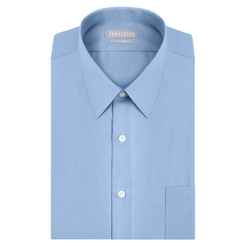 Big & Tall Van Heusen Classic-Fit Solid Poplin Easy-Care Point Collar Dress Shirt