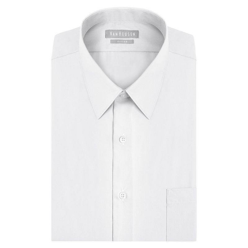 Big & Tall Van Heusen Classic-Fit Solid Poplin Easy-Care Point Collar Dress Shirt