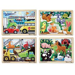 Melissa & Doug Wooden Jigsaw Puzzle Bundle by