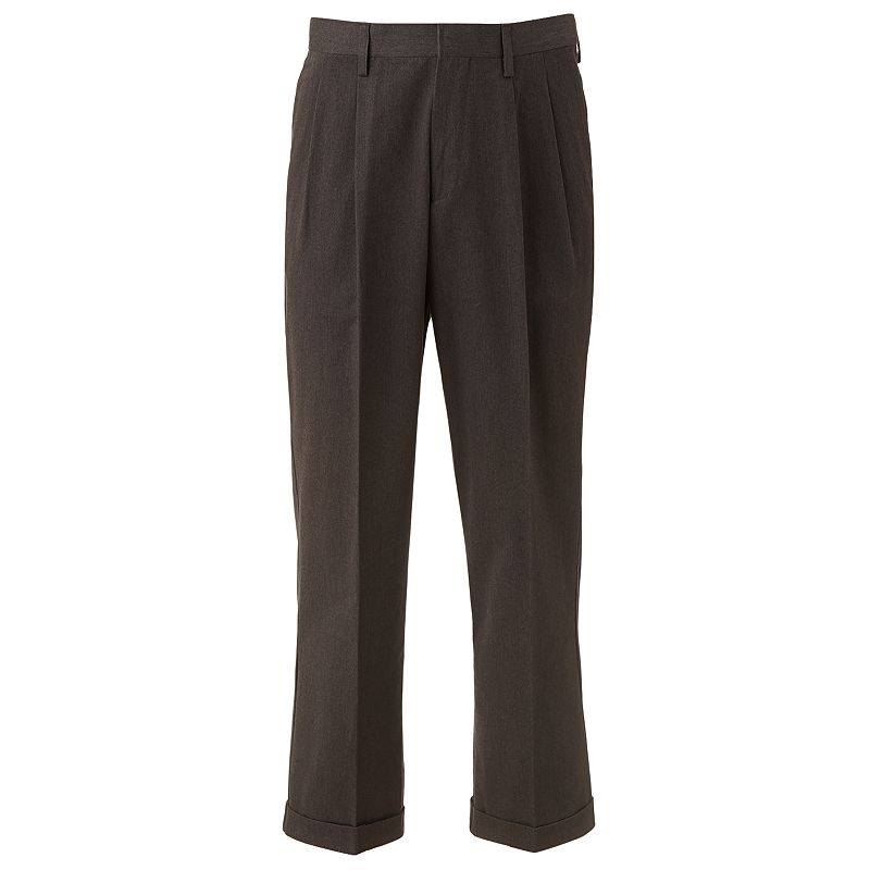 Big & Tall Croft & Barrow® Easy Care Khaki Relaxed-Fit Pleated Pants