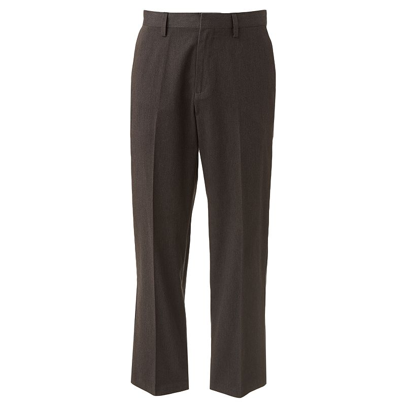 Big & Tall Croft & Barrow® Easy Care Khaki Relaxed-Fit Flat-Front Pants