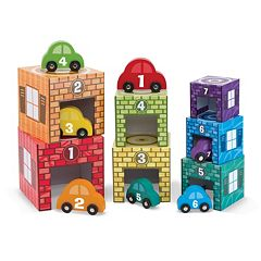 Melissa & Doug Nesting & Sorting Garages & Cars by