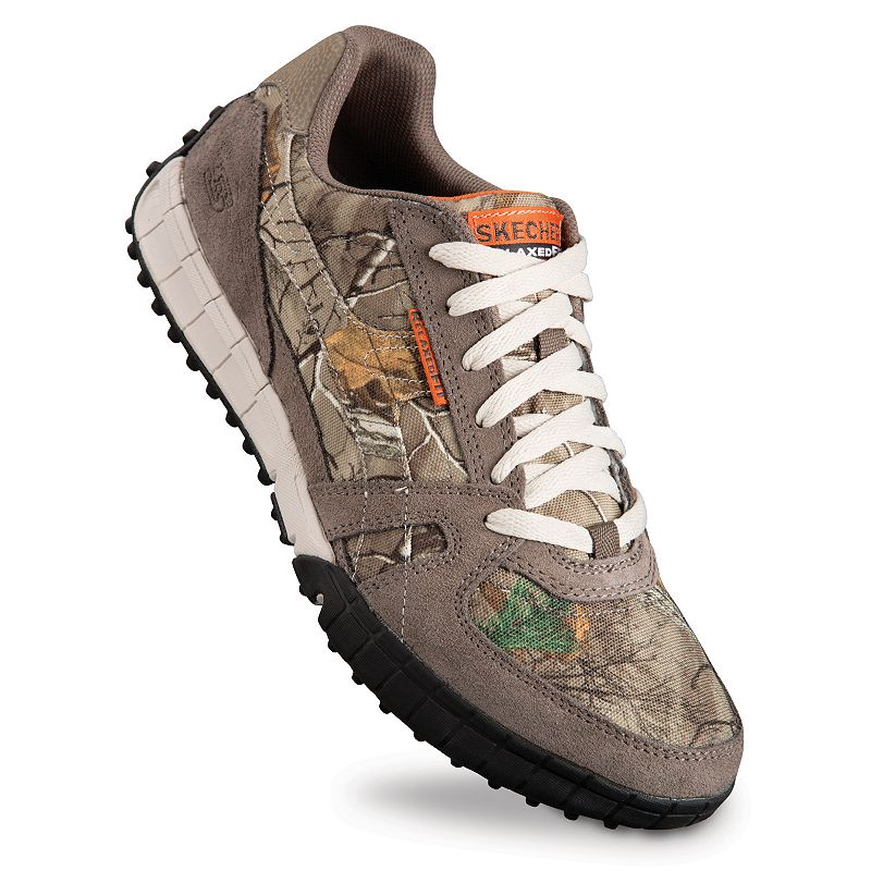 Skechers Mens Relaxed Fit Hunts Up Realtree Camo Shoes