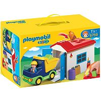 Playmobil 1.2.3 Truck with Garage - 6759
