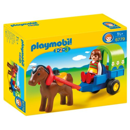 Playmobil 1.2.3 Pony Wagon - 6779