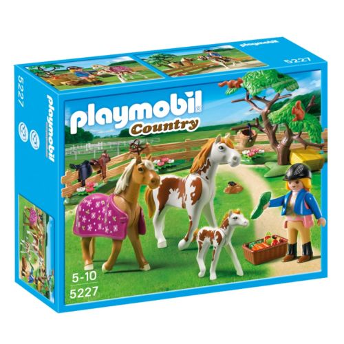 Playmobil Paddock with Horses and Foal - 5227