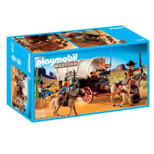 Playmobil Covered Wagon with Raiders - 5248