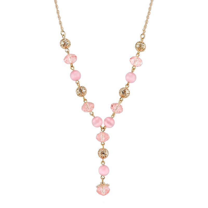 1928 Filigree Bead Y Necklace