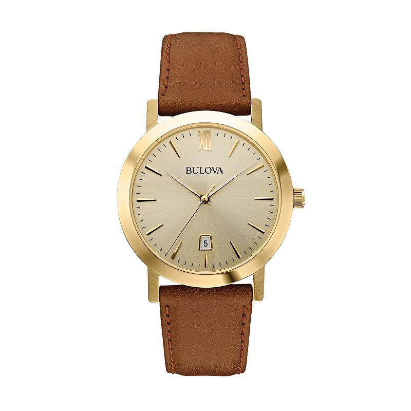 Bulova Men's Leather Watch - 97B135