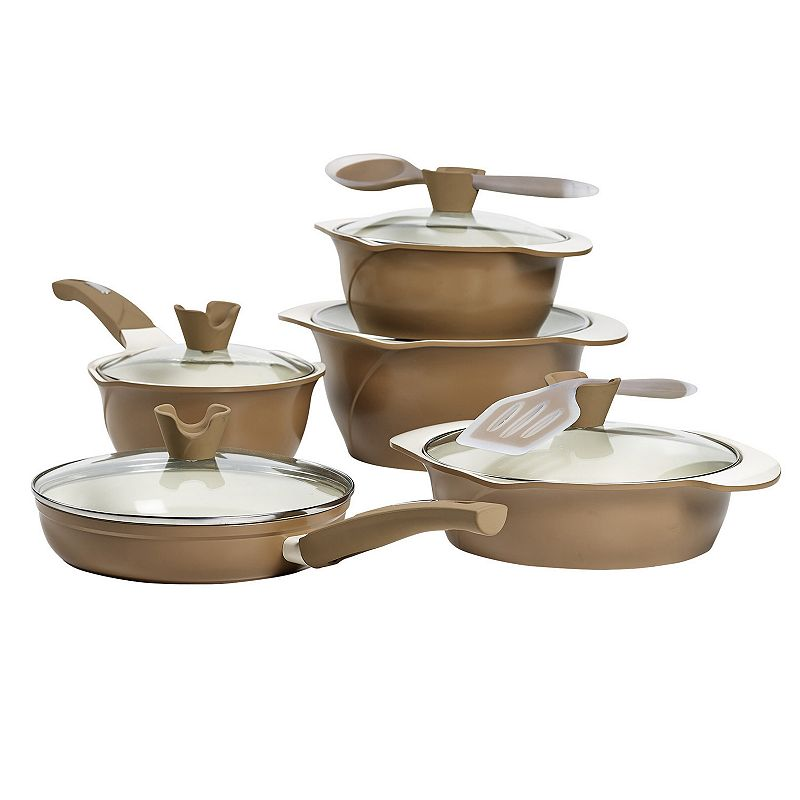 Anna Boiardi 12-pc. Nonstick Cast-Aluminum Cookware Set