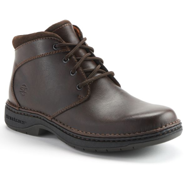These men's Georgia Boot work boots are tough and comfortable. In black.