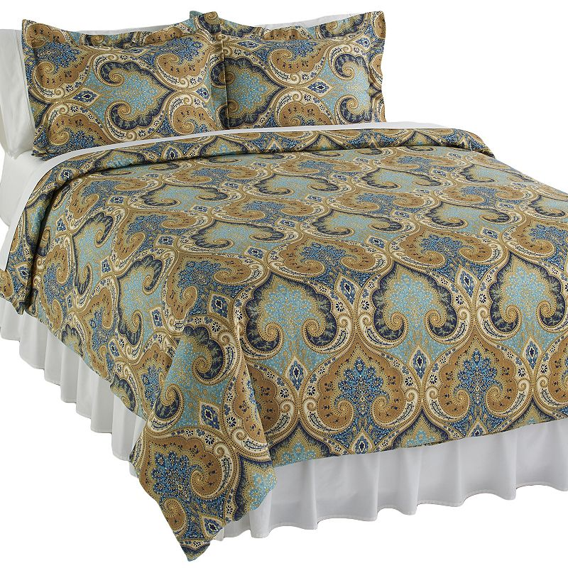 Elite Home Products Milano 3-pc. Duvet Cover Set - Full/Queen