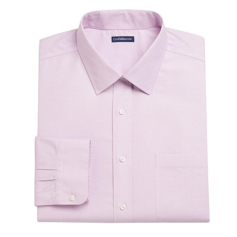 Big & Tall Croft & Barrow® Classic-Fit Mini-Check Dress Shirt
