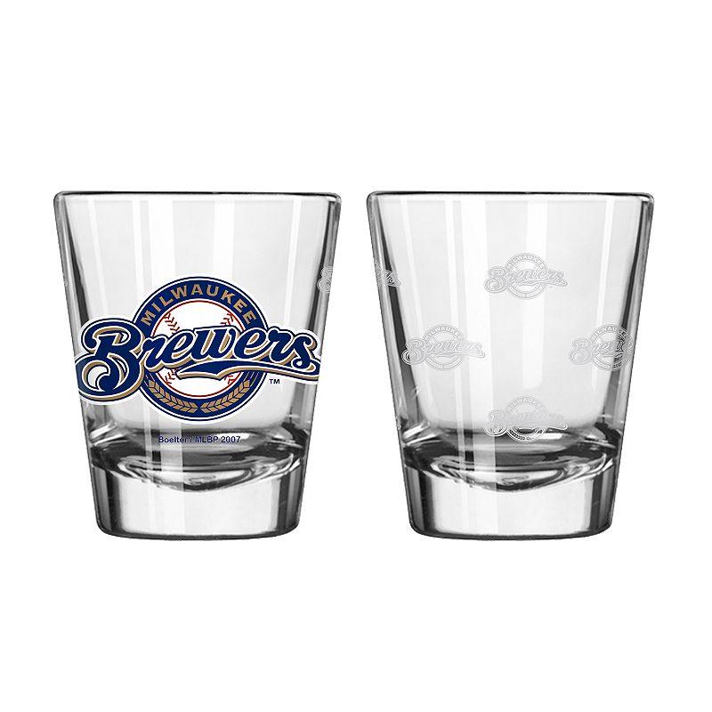 Milwaukee Brewers 2-pc. Satin-Etch Shot Glass Set