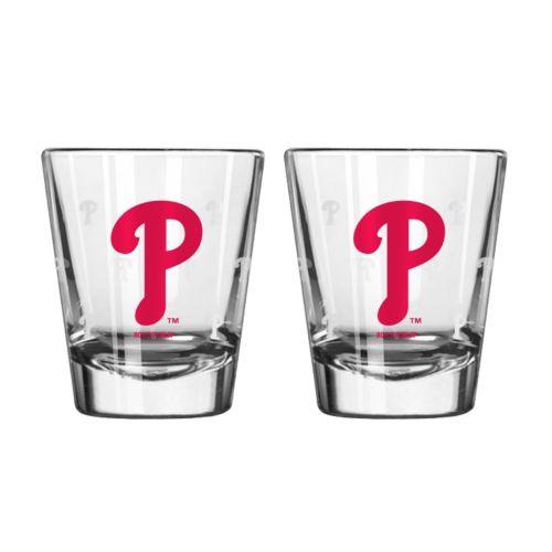Philadelphia Phillies 2-pc. Satin-Etch Shot Glass Set