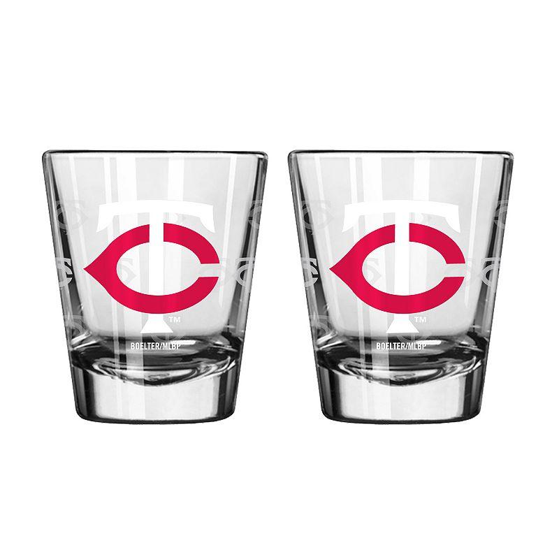 Minnesota Twins 2-pc. Satin-Etch Shot Glass Set