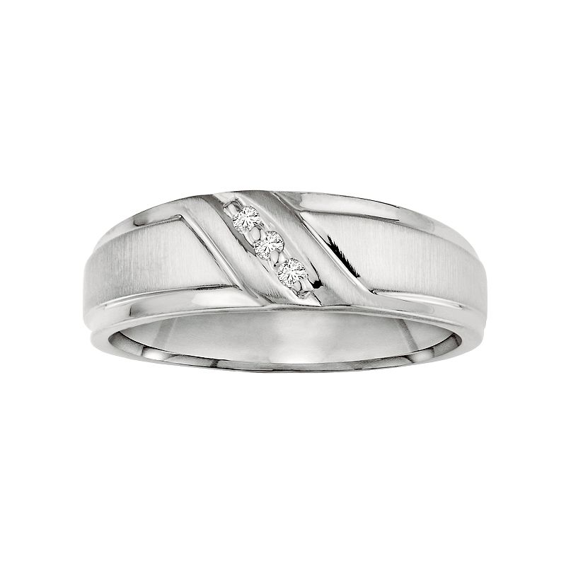 Love Always Diamond Accent Sterling Silver Wedding Band - Men