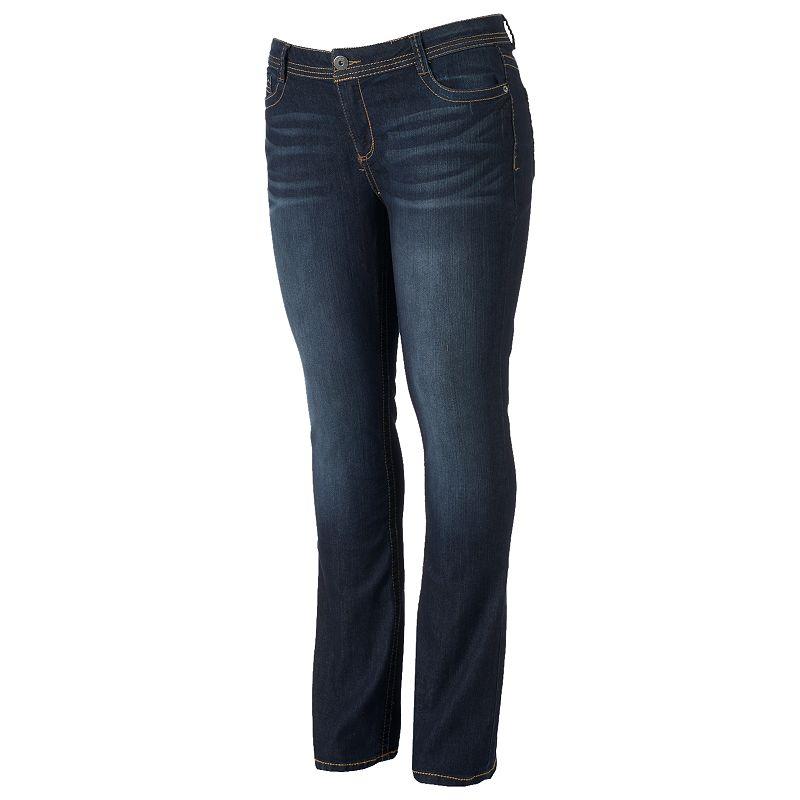 Juniors' Plus Size Mudd® Skinny Bootcut Jeans