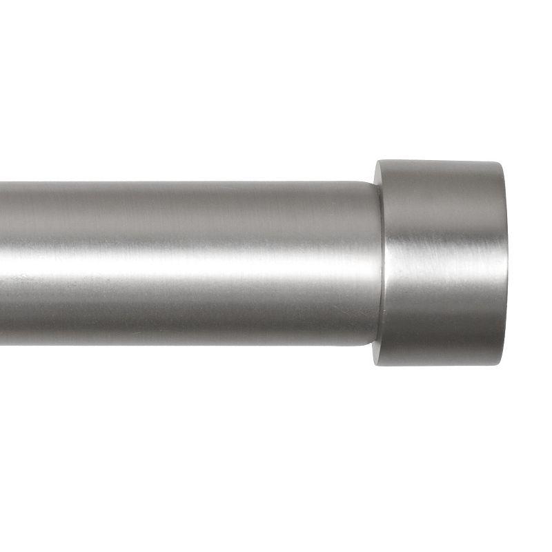 Umbra Cappa Adjustable Nickel Finish Curtain Rod - 36'' - 72''