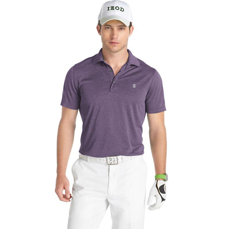 IZOD Solid Jacquard Performance Golf Polo - Men