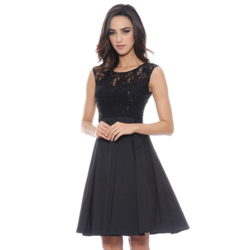 1 by 8 Mixed-Media Fit & Flare Dress - Women's