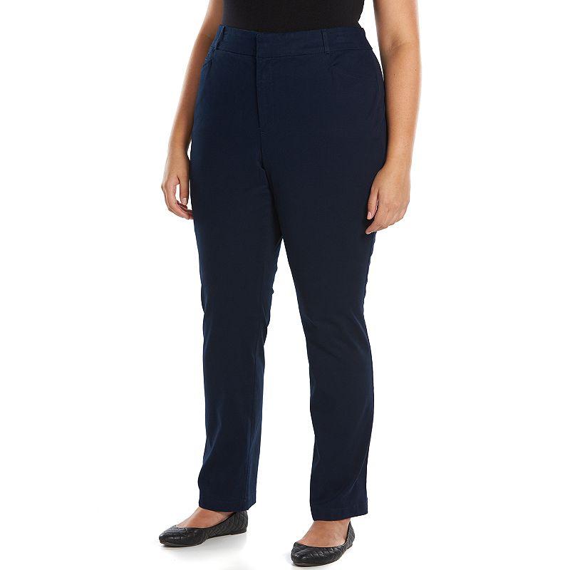 Plus Size Gloria Vanderbilt Comfort Waist Trouser Pants