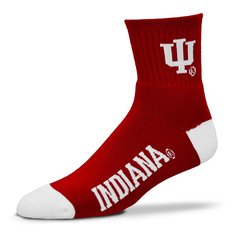 Adult For Bare Feet Indiana Hoosiers Team Color 1/4-Crew Socks